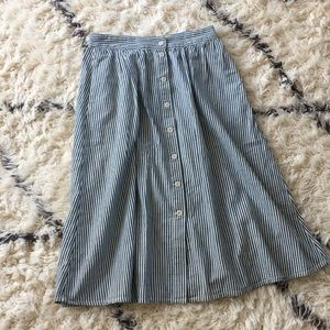 Madewell striped skirt size 8